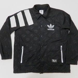 Adidas Trefoil Track Jacket Mens Large Snap Button
